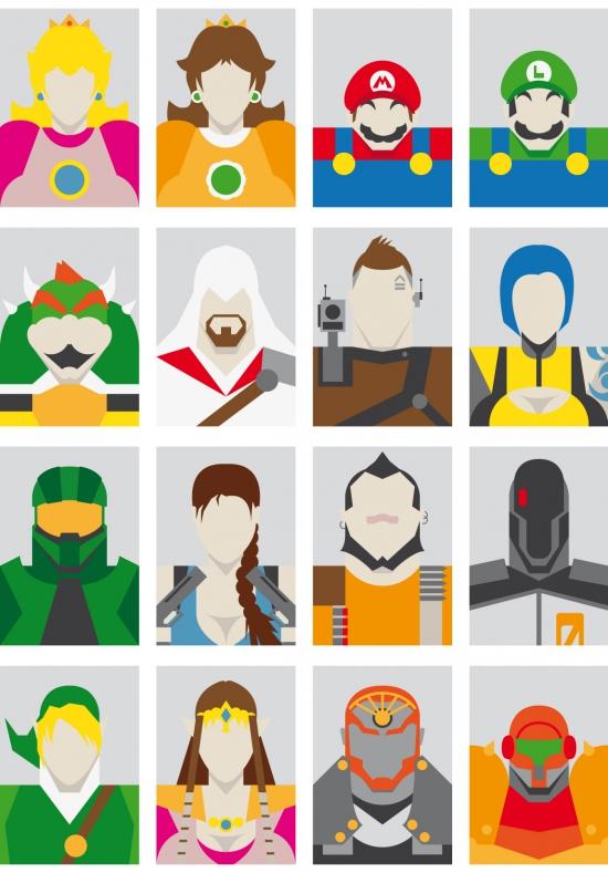 minimal faces videogames.jpg